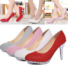 Women Pointed High Heels Prom Party Bridal Evening Women's Stiletto Court Shoes