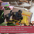 Custom Star Wars Rogue One K-2SO Birthday Invitation Invite Pack Optional Magnet