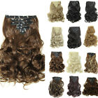 100% Natural Women Clip in Hair Extensions Extension 7 PCS Full Head Curly Wavy