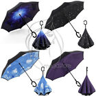 Parasols Folding Upside Down Windproof Umbrella Double Layer Inverted Reverse