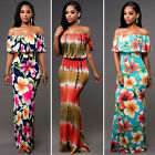 USA Women Summer Dress Boho Maxi Long Evening Party Dress Beach Dress Sundress