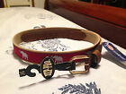 ZEP PRO University Alabama Crimson Tide w/Elephant Leather Canvas Ribbon Belt