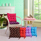 Home Office Polka Dot Sofa Dining Chair Seat Cushion Mat Pad Filled Ties Thick