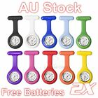 2X Silicone Nurse Brooch Tunic Fob Watch Nursing Nurses Pendant Pocket Watch AU