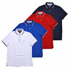 Tommy Hilfiger Shirt Mens Polo Classic Fit Interlock Soft Cotton Striped Collar