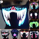 Face Mask Light Up Flashing Luminous for Halloween Party Costume Decoration