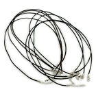 Genuine Leather Thong Necklace Cord Thread Silver Plated Lobster Clasp 2mm 3mm