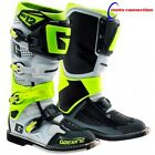 NEW GAERNE SG12 MOTOCROSS  MX BOOTS WHITE / GREY / FLO YELLOW ALL SIZES
