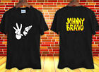 BLACK 2 side hot JOHNNY BRAVO Logo Like Elvis Cartoon t-shirt shirt tee