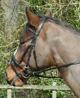 Windsor Leather Flash Bridle with Diamante Detail to Browband with Rubber Reins