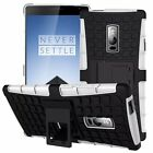Solid Kickstand For OnePlus Sony Rubberized Back Dual Layer Case Cover