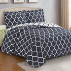 Meridian Oversized Coverlet Set Luxury Printed Reversible Wrinkle Free Easy Care image
