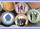 24 PERSONALISED POWER RANGER DESIGN 2 DESIGN CUPCAKE TOPPER RICE,WAFER or ICING