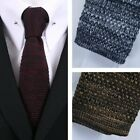 Gibson London Retro Mod 60's Square End Slim Knitted Tie