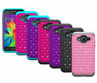 Diamond Bling Hybrid Armor Protective Cover Case For Samsung Galaxy Amp Prime