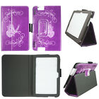 Case For Kindle Fire HDX 7 2013 Syn Leather Slim Fit Folio Auto Wake/Sleep Cover