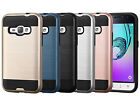 Brushed Metal Texture Hybrid Protective Case For Samsung Galaxy J1 Luna 4G