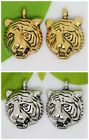 40/240pcs Lots Silver/Gold tiger head alloy Jewelry Charms Pendant 14x10mm A42M