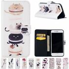 Wallet Magnetic Leather Cards Flip Painted Stand Case Cover For iPhone 6 6S Plus