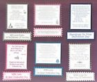 6 Baby DEDICATION Greeting Craft Verse Toppers W/WO Matching Sentiment Banners