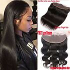 13x4 Lace Frontal Virgin Human Hair Ear to Ear Closure Peruvian Body Wave US QN5
