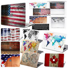 "Flag Map Rubberized Hard Case Match KB Cover For Macbook PRO 13""15"" Retina Touch"