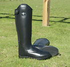 Rhinegold Louisiana Childs Long Leather Horse Riding Boot in Black UK13 to UK5