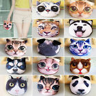 UP Children Kids Cute Cat Face Zipper Coin Purse Wallet Makeup Mini Bag Pouch