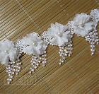 Fringe Beaded Lace Trim Wedding Dress Ribbon Embroidered Appliques Sewing Fabric