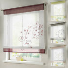Lift Rod Door Window Curtain Roman Shade/Blind Window Floral Curtain 4 Sizes