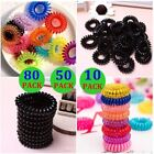 80X 50X Women Rubber Hair Ties Band Ponytail Holder Elastic Phone Cord Bands Lot