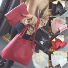 Luxury Women Leather Litchi Stria Hobo Large Handbag Shoulder Bag+Clutch Bag Set