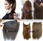 New Hidden Invisible Flip on Weft 100% Real Human Hair Extension Remy Full Head