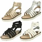 Girls Spot-On Casual Hi Top Gladiator Style Strappy Sandals - H0131
