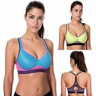 Women's Medium Impact Full Figure Racerback Wirefree Foam Support Sports Bra