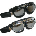Leopard Adult Motorbike Motorcycle Goggles Scooter Metal Frame Goggles Mirrored