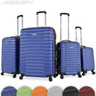 4 pc Travel Trolley Set Hard Shell Suitcase Flight Luggage Cabin Bag Wheeled