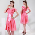 Women's Pleated Formal Evening Mini COCKTAIL Dress Casual Party Prom Dresses New
