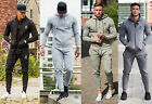 New Mens Designer Gym King Full Tracksuit Zip Hoodie & Skinny Joggers Bottoms