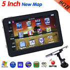 "5 "" Car Auto Sat Nav FM Transmitter MP3 Player GPS Navigation Bundle Free Map"