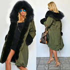 Jacket Outwear Overcoat New Long Hooded Coat Faux Women\'s Winter Warm