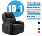 Massage Chair Recliner Sofa Vibration Heat w/ Control Leather Lounge Chair 8031