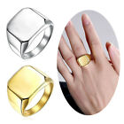 Luxury Mens Square Ring Solid Polished Stainless Steel Band Screw Ring 9-13
