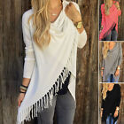 Womens Loose Long Sleeve Cotton Casual Blouse Shirt Tops Fashion Blouses coat XL