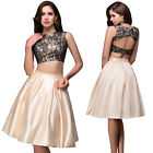 2 Piece Homecoming Dresses Cocktail Evening Party Bridesmaid Short Prom Dress .