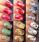 NAIL ART STICKERS WATER TRANSFERS DECALS BUTTERFLY FLOWERS DAISY CHERRY BLOSSOM