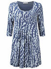 Adini blue Tribeca print Nolita jersey tunic relaxed fit sizes 10 to 22
