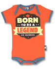 Six Bunnies Short Sleeved Babygrow - Born to be a legend