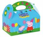 Childrens Peppa Pig Food Boxes ~ Picnic Carry Meal Box ~ Birthday Party Plate