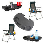 Camping Chair Side Table Garden Clip On Relax Tray Drinks Holder Outdoor Fishing
